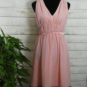 ALLIE Pleated Sleeveless Dress Size Medium